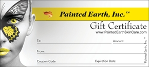 Painted Earth offers Gift Certificates for yourself or that hard to buy friend or loved one.