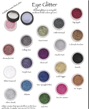 High Pigment with incredible shine. Loose powder Mineral Eye Glitter is easily applied over eyes