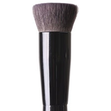 A flat shaped brush of goat hair particularly designed for cheek contour.